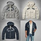 NWT Abercrombie and Fitch  Men's Adams Mountain Hoodie, Navy, Heather Grey, M, L