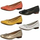 Ladies Clarks Flat Ballet Style Shoes - Henderson Hot