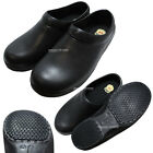 New Men Chef Shoes Black Clog Kitchen Shoes Non Slip Safety for Cook