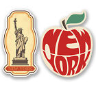 2 x New York USA Vinyl Stickers iPad Laptop Car Suitcase Travel Labels Fun #4809