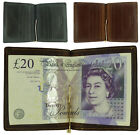 Mens Quality Leather Money Clip Wallet and Card Holder in Black/Brown