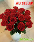 RED SINGLE STEM ARTIFICIAL ROSE VELVET REAL TOUCH FLOWER Home/Wedding Decoration