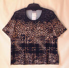 Samoon Shirt Gerry Weber Viskose Stretch Rundhals Animal Alloverprint Neu