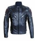 Fashion Men's PU Leather Jacket Motorcycle Racing Armor Outdoor Riding Clothing