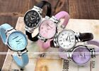 1pc Womens Girl Round Case Casual Quartz Analog Wrist Watch Bracelet Cuff Bangle