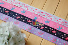 "1""(U PICK) Wholesale Crown Printed Grosgrain Ribbon 4 hair Bow 50/100 Yds"
