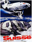 4980.Suisse par abios.flying over french alps.POSTER.Decoration.Graphic Art