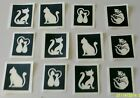 Kyпить 10 - 400 cat stencils (mixed) for etching on glass hobby present gift cattery на еВаy.соm