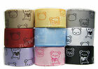 "10y 22mm 7/8"" Bear All Occasions Grosgrain Ribbon Sewing Craft Premium Eco"