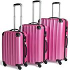 Hard Shell 4 Wheel Spinner Suitcase PINK Case Luggage Trolley Cabin Carry On PC