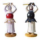 Kendo Doll Miniature Windup Men Strike Two Types Display Desk Top Deco Gifts Toy
