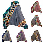 Harem Pants Trousers Unusual Hippy Hippie Gypsy Festival Genie Aladdin Flowers