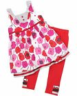 Deux par Deux Girl's Floral Tunic w Leggings Mlle Coquelicot, Sizes 3, 4, 5, 6