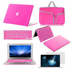 "Hot Pink Laptop Case Bag Keyboard Cover Accessory for Macbook Air Pro 11""13""15"""