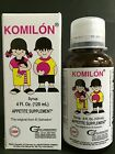 KOMILON CHILDREN'S APPETITE SUPPLEMENT SYRUP 4oz / SUPLEMENTO DEL APETITO JARABE