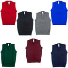 New School Uniform V Neck Tank Top Sleeveless Jumper Pack of 2 Size 2yrs-XL