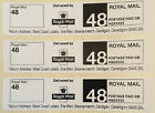 Printed Royal Mail Second Class 48 PPI Postage Labels with Return Address