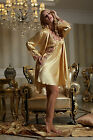 New Green&Yellow Solid Silk Blend 2pcs Women Sleepwear Robe&Gown Sets M/L/XL/2XL