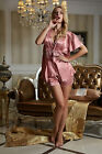 New Freeship Iron Red silk Blend  Women Lady's pajamas sets/Sleepwear M/L/XL/2XL