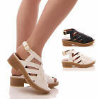 LADIES WOMENS CROSS OVER SANDALS SUMMER LOW HEEL FASHION HOLIDAY SHOES SIZE