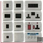 Volex Brushed Stainless Steel Light Switches and Electrical Sockets Black Insert