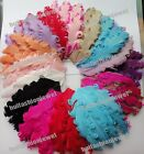 Lots 15color pick 6 Curly Goose nagorie feather pad appliques trims for headband