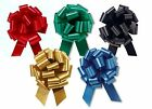 """4"""" PULL BOWS Christmas *Shimmery Satin*  YOU PICK ANY COLOR ~~ 10-pack Gift Wrap"""