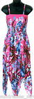 Pink Blue SunDress Multi-Color Hawaiian Floral -NEW- Sizes S, M, L Beach/Summer