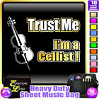 Cello Trust Me - Sheet Music & Accessories Personalised Bag by MusicaliTee