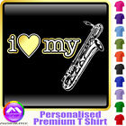 Sax Baritone I Love My - Personalised Music T Shirt 5yrs - 6XL by MusicaliTee