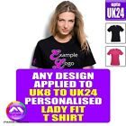 Lady Fit T Shirt XS - 5XL With Any Music Design Personalised by MusicaliTee