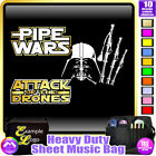 Bagpipe Pipe Wars Attack Of The Drones - Sheet Music Custom Bag by MusicaliTee