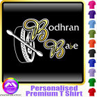 Bodhran Babe - Personalised Music T Shirt 5yrs - 6XL by MusicaliTee