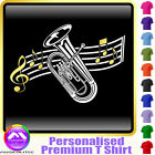 Euphonium Curved Stave - Personalised Music T Shirt 5yrs-6XL MusicaliTee 2