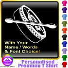 Bodhran Picture With Your Words - Custom Music T Shirt 5yrs - 6XL by MusicaliTee