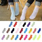 New Women Winter Warm Solid Candy Color Neon Bright Low Cut Ankle Socks