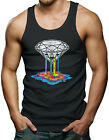 Bleeding Diamond - Rainbow Weed Marijuana Gay Lesbian Men's Tank Top T-shirt