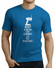 Keep Calm and Carry on RC Racing, Wheel Controller Funny T-Shirts.