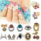 10pcs Hot New Glitters Rhinestone 3d Alloy Nail Art DIY Stickers Decorations OBS