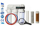 Large 4 Stage RO Reverse Osmosis unit with DI resin chamber 50/75/100/150 GPD