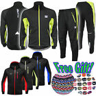 Mens Winter Thermal Fleece Running Cycling Suits Pants Trousers Top Jacket Coat