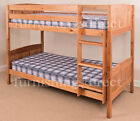 SOLID ANTIQUE PINE BUNK BED, SPLITS INTO 2 X SINGLE BEDS, MATTRESS OPTIONS