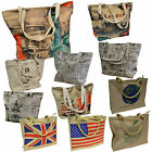 TOP Tasche New York London Leinen Canvas Shopper Einkaufstasche Vintage shopping
