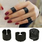 3 -er Ring Set drei Ringe schwarz Gliederring Fingerring Blogger Statement NEU