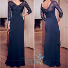 V-Neck Maxi Evening Dress Cocktail Prom Gown Long Party Dresses Size6 8 10 12 14