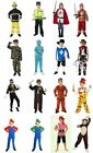 NEW KIDS BOYS CHILDRENS FANCY DRESS COSTUMES. AGE 4-6, 7-9, 10-12. 22 STYLES