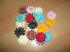 20 Solid Colour Mulberry Paper Gerbera / Daisy Flower Heads 40mm Various Colours