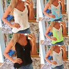 2015 SUMMER LADY PLUS SIZE SEXY LACE CAMI TANK TOP WOMENS CROCHET BLOUSE SHIRT