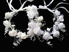 New Flower Girls/Communion Hair Piece/Wreath Adjustable White or Creme