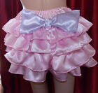 SATIN DELUX RUFFLE KNICKERS TV SISSY FETISH  LOLITA COSPLAY